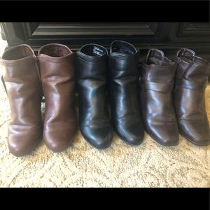 Three pairs of size G.H. Bass&Co Ankle Boots